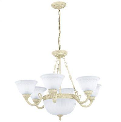 Eglo MONSERRAT 90595 Люстра подвеснаяПодвесные<br>Австрийское качество модели светильника Eglo 90595 не оставит равнодушным каждого купившего!.<br><br>Установка на натяжной потолок: Да<br>S освещ. до, м2: 20<br>Крепление: Крюк<br>Тип цоколя: E27<br>Количество ламп: 8<br>MAX мощность ламп, Вт: 60<br>Диаметр, мм мм: 820<br>Высота, мм: 1100<br>Цвет арматуры: белый