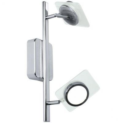 Eglo TINNARI 91634 Светильник поворотный спотХай-тек<br>Австрийское качество модели светильника Eglo 91634 не оставит равнодушным каждого купившего! Матовое закаленное стекло(пр-во Чехия), хромированный корпус, Класс изоляции 3, IP 20, Экологически безопасные технологии.<br><br>S освещ. до, м2: 6<br>Крепление: настенное<br>Тип товара: Светильник поворотный спот<br>Скидка, %: 46<br>Цветовая t, К: 2700 (теплый белый)<br>Тип цоколя: LED<br>Количество ламп: 2<br>Ширина, мм: 90<br>MAX мощность ламп, Вт: 29<br>Размеры основания, мм: 0<br>Длина, мм: 360<br>Оттенок (цвет): белый, прозрачный<br>Цвет арматуры: серебристый<br>Общая мощность, Вт: 2X7,5W