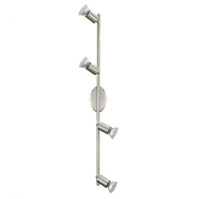 Eglo BUZZ-LED 92598 Светильник поворотный спотС 4 лампами<br>Светильники-споты – это оригинальные изделия с современным дизайном. Они позволяют не ограничивать свою фантазию при выборе освещения для интерьера. Такие модели обеспечивают достаточно качественный свет. Благодаря компактным размерам Вы можете использовать несколько спотов для одного помещения.  Интернет-магазин «Светодом» предлагает необычный светильник-спот Eglo 92598 по привлекательной цене. Эта модель станет отличным дополнением к люстре, выполненной в том же стиле. Перед оформлением заказа изучите характеристики изделия.  Купить светильник-спот Eglo 92598 в нашем онлайн-магазине Вы можете либо с помощью формы на сайте, либо по указанным выше телефонам. Обратите внимание, что у нас склады не только в Москве и Екатеринбурге, но и других городах России.<br><br>S освещ. до, м2: 5<br>Крепление: потолочное<br>Цветовая t, К: 3000 (теплый белый)<br>Тип лампы: галогенная / LED-светодиодная<br>Тип цоколя: GU10<br>Цвет арматуры: серый<br>Количество ламп: 4<br>Ширина, мм: 65<br>Размеры основания, мм: 0<br>Длина, мм: 685<br>MAX мощность ламп, Вт: 2,5<br>Общая мощность, Вт: 4X3W