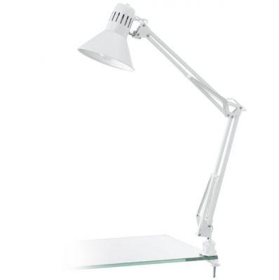 Eglo FIRMO 90872 Офисная настольная лампаНа прищепке<br>Настольная лампа – это не просто источник дополнительного освещения, но и оригинальный элемент декора. Его можно установить в спальне, гостиной, кабинете и других комнатах. Интернет-магазин «Светодом» предлагает настольные лампы разных стилей по доступным ценам. Благодаря большому ассортименту Вы обязательно найдете в нашем каталоге именно ту модель, которую искали.   Настольная лампа Eglo 90872 – прекрасный вариант для завершения интерьера. Ее можно включить одновременно с люстрой для более яркого освещения или без нее для создания уютной атмосферы, настраивающей на отдых.   Купить настольную лампу Eglo 90872 Вы можете с помощью виртуальной «Корзины» или по контактным номерам, указанным на сайте.<br><br>S освещ. до, м2: 2<br>Крепление: прищепка<br>Тип цоколя: E27<br>Количество ламп: 1<br>MAX мощность ламп, Вт: 2<br>Размеры основания, мм: 0<br>Длина, мм: 730<br>Цвет арматуры: белый<br>Общая мощность, Вт: 1X40W