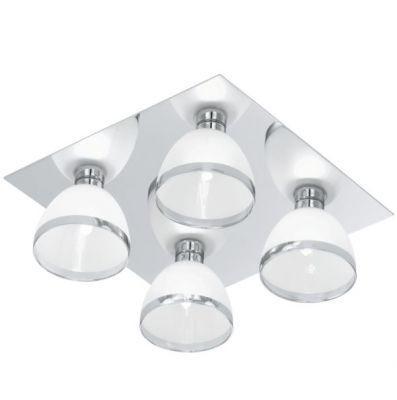 Eglo BASTILLIO 91841 Потолочный светильникПотолочные<br><br><br>Установка на натяжной потолок: Ограничено<br>S освещ. до, м2: 15<br>Крепление: Планка<br>Тип лампы: галогенная / LED-светодиодная<br>Тип цоколя: G9<br>Количество ламп: 4<br>Ширина, мм: 295<br>MAX мощность ламп, Вт: 33<br>Длина, мм: 295<br>Расстояние от стены, мм: 115<br>Цвет арматуры: серебристый