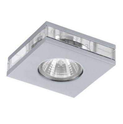 Eglo TORTOLI 92687 Встраиваемые и накладные светильникиКвадратные<br>Встраиваемые светильники – популярное осветительное оборудование, которое можно использовать в качестве основного источника или в дополнение к люстре. Они позволяют создать нужную атмосферу атмосферу и привнести в интерьер уют и комфорт.   Интернет-магазин «Светодом» предлагает стильный встраиваемый светильник Eglo 92687. Данная модель достаточно универсальна, поэтому подойдет практически под любой интерьер. Перед покупкой не забудьте ознакомиться с техническими параметрами, чтобы узнать тип цоколя, площадь освещения и другие важные характеристики.   Приобрести встраиваемый светильник Eglo 92687 в нашем онлайн-магазине Вы можете либо с помощью «Корзины», либо по контактным номерам. Мы развозим заказы по Москве, Екатеринбургу и остальным российским городам.<br><br>S освещ. до, м2: 1<br>Крепление: потолочное<br>Тип цоколя: GU5,3<br>Количество ламп: 1<br>Ширина, мм: 90<br>MAX мощность ламп, Вт: 20<br>Размеры основания, мм: 0<br>Диаметр врезного отверстия, мм: 35<br>Длина, мм: 90<br>Высота, мм: 26<br>Оттенок (цвет): прозрачный<br>Цвет арматуры: серебристый<br>Общая мощность, Вт: 1X20W