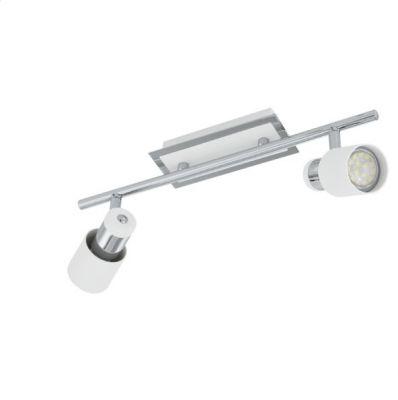 Eglo DAVIDA 92085 Светильник поворотный спотДвойные<br>Светильники-споты – это оригинальные изделия с современным дизайном. Они позволяют не ограничивать свою фантазию при выборе освещения для интерьера. Такие модели обеспечивают достаточно качественный свет. Благодаря компактным размерам Вы можете использовать несколько спотов для одного помещения.  Интернет-магазин «Светодом» предлагает необычный светильник-спот Eglo 92085 по привлекательной цене. Эта модель станет отличным дополнением к люстре, выполненной в том же стиле. Перед оформлением заказа изучите характеристики изделия.  Купить светильник-спот Eglo 92085 в нашем онлайн-магазине Вы можете либо с помощью формы на сайте, либо по указанным выше телефонам. Обратите внимание, что у нас склады не только в Москве и Екатеринбурге, но и других городах России.<br><br>Крепление: потолочное<br>Цветовая t, К: 3000 (теплый белый)<br>Тип лампы: галогенная / LED-светодиодная<br>Тип цоколя: GU10<br>Количество ламп: 2<br>Ширина, мм: 70<br>MAX мощность ламп, Вт: 5<br>Размеры основания, мм: 0<br>Длина, мм: 390<br>Цвет арматуры: серебристый<br>Общая мощность, Вт: 2X5W