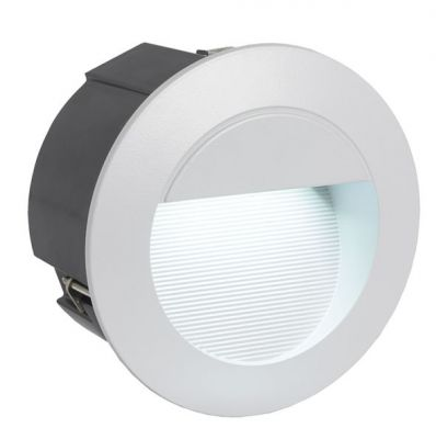 Eglo Zimba led 89543 светильник уличныйВ стену<br>Встраиваемые светильники – популярное осветительное оборудование, которое можно использовать в качестве основного источника или в дополнение к люстре. Они позволяют создать нужную атмосферу атмосферу и привнести в интерьер уют и комфорт.   Интернет-магазин «Светодом» предлагает стильный встраиваемый светильник Eglo 89543. Данная модель достаточно универсальна, поэтому подойдет практически под любой интерьер. Перед покупкой не забудьте ознакомиться с техническими параметрами, чтобы узнать тип цоколя, площадь освещения и другие важные характеристики.   Приобрести встраиваемый светильник Eglo 89543 в нашем онлайн-магазине Вы можете либо с помощью «Корзины», либо по контактным номерам. Мы развозим заказы по Москве, Екатеринбургу и остальным российским городам.<br><br>Крепление: врезное<br>Тип цоколя: LED<br>Количество ламп: 1<br>MAX мощность ламп, Вт: 1,05<br>Диаметр, мм мм: 125<br>Высота, мм: 5<br>Цвет арматуры: серебристый