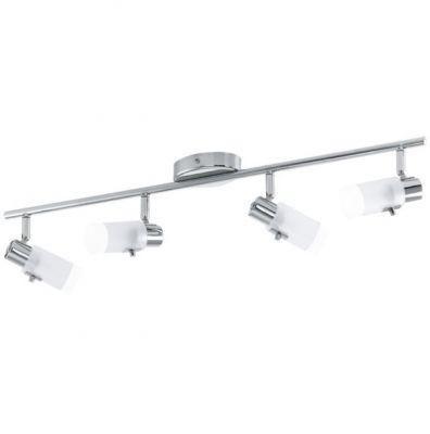 Eglo ORVIETO 92649 Светильник поворотный спотС 4 лампами<br><br><br>S освещ. до, м2: 8<br>Крепление: потолочное<br>Тип товара: Светильник поворотный спот<br>Тип лампы: галогенная / LED-светодиодная<br>Тип цоколя: G9<br>Количество ламп: 4<br>Ширина, мм: 65<br>MAX мощность ламп, Вт: 33<br>Длина, мм: 685<br>Цвет арматуры: серебристый