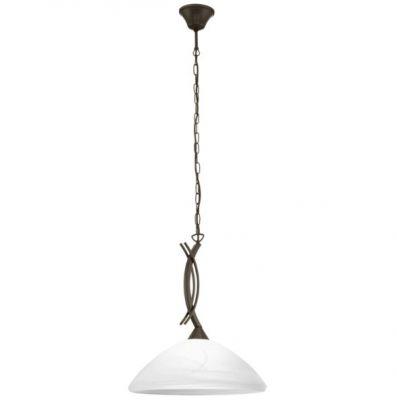 Eglo VINOVO 91432 Светильник подвеснойПодвесные<br>Австрийское качество модели светильника Eglo 91432 не оставит равнодушным каждого купившего! Закаленное алебастровое белое стекло (пр-во Чехия) , основание сталь с защитно/декративным коричневым покрытием , цепной подвес, Класс изоляции 2 (двойная изоляция до лампы), IP 20, освещенность 806 lm ,Н=1100D=365,1X60W,E27.<br><br>Установка на натяжной потолок: Да<br>S освещ. до, м2: 2<br>Крепление: Крюк<br>Тип товара: Светильник подвесной<br>Тип цоколя: E27<br>Количество ламп: 1<br>MAX мощность ламп, Вт: 60<br>Диаметр, мм мм: 365<br>Размеры основания, мм: 0<br>Высота, мм: 1100<br>Оттенок (цвет): белый<br>Цвет арматуры: коричневый<br>Общая мощность, Вт: 1X60W