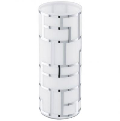 Eglo BAYMAN 91971 Настольная лампаСовременные<br>Австрийское качество модели светильника Eglo 91971 не оставит равнодушным каждого купившего! Матовое закаленное стекло(пр-во Чехия) с хромированным обрамлением, Класс изоляции 2 (плоская вилка, двойная изоляция от вилки до лампы), отдельный выключатель, IP 20, освещенность 1320 lm Н=270,D=105.<br><br>S освещ. до, м2: 4<br>Тип лампы: накаливания / энергосбережения / LED-светодиодная<br>Тип цоколя: E27<br>Количество ламп: 1<br>MAX мощность ламп, Вт: 2<br>Диаметр, мм мм: 105<br>Размеры основания, мм: 0<br>Высота, мм: 270<br>Оттенок (цвет): белый, хром<br>Общая мощность, Вт: 1X60W
