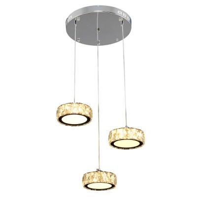 Купить Люстра Геометрия 2-1628-3-CR+WH LED, Максисвет