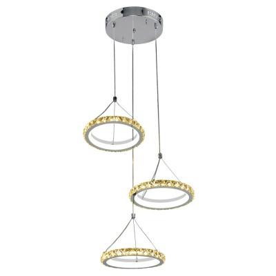 Купить Люстра Геометрия 2-1631-3-CR+WH Y LED, Максисвет