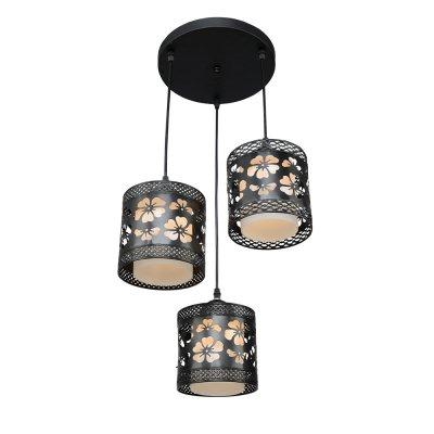 Люстра Модерн 2-4935-3-BK E27 МаксисветОжидается<br>Черно-белый дизайн светильника основан на сильнейшем контрасте двух противоположностей, благодаря чему ни одна деталь не будет пропущена глазом белоснежные стеклянные плафоны и черные абажуры с флористическим узором.<br>При желании плафоны можно закрепить на потолочном основании светильника, что позволит использовать светильник в помещениях с невысокими потолками.<br>Стилевые решения интерьера: контемпорари<br>Тип помещения: кухня, холл.<br><br>S освещ. до, м2: 9<br>Тип цоколя: E27<br>Цвет арматуры: Черный<br>Количество ламп: 3<br>Ширина, мм: 250<br>Высота полная, мм: 1100<br>Длина, мм: 250<br>Оттенок (цвет): Разноцветный
