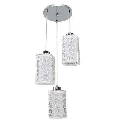 Люстра Модерн 2-4960-3-CR E27 МаксисветОжидается<br>Серия 4960 идеально подходит для освещения кухонной зоны.<br>Плафоны светильника можно располагать на любой высоте, создавая при этом индивидуальную композицию.<br>Светильники укомплектованы самым популярным цоколем Е27.<br>Стилевые решения интерьера: контемпорари.<br>Тип помещения: кухня, столовая, студия.<br>Для зонирования освещения используйте также одиночные подвесы (арт. 2-4960-1-CR E27).<br><br>S освещ. до, м2: 9<br>Тип цоколя: E27<br>Цвет арматуры: Хром<br>Количество ламп: 3<br>Ширина, мм: 320<br>Высота полная, мм: 950<br>Длина, мм: 320<br>Оттенок (цвет): Белый