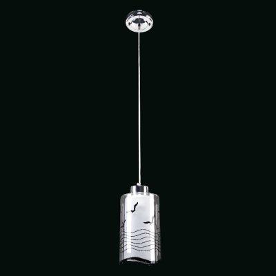 Люстра Модерн 2-4965-1-CR E27 МаксисветОжидается<br>Очень интересная серия светильников с изображением парящих чаек.<br>Волнистые линии рисунка напоминают очертание моря.<br>При включенной лампе, создается эффект светящегося над морем солнца.<br>Стилевые решения интерьера: контемпорари.<br>Тип помещения: кухня, столовая, студия.<br>Серия представлена также подвесами на два плафона (арт. 2-4965-2-CR E27) и три плафона (арт. 2-4965-3-CR E27).<br><br>S освещ. до, м2: 3<br>Тип цоколя: E27<br>Цвет арматуры: Хром<br>Количество ламп: 1<br>Ширина, мм: 120<br>Высота полная, мм: 1150<br>Длина, мм: 120<br>Оттенок (цвет): Прозрачный, Матовый, Черный