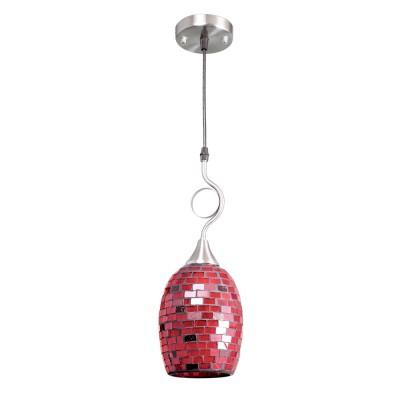 Красный подвес 2-5023-1-SY E27 Максисветодиночные подвесные светильники<br><br><br>S освещ. до, м2: 3<br>Тип лампы: Накаливания / энергосбережения / светодиодная<br>Тип цоколя: E27<br>Цвет арматуры: Никель<br>Количество ламп: 1<br>Диаметр, мм мм: 140<br>Высота полная, мм: 800<br>Поверхность арматуры: блестящая<br>Оттенок (цвет): Красный, Коричневый<br>MAX мощность ламп, Вт: 60