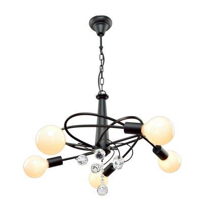 Люстра Модерн 2-5441-5-BK E27 МаксисветОжидается<br>Прекрасное решение для современных интерьеров. В комплектации светильника можно использовать различные виды ламп, изменяя при этом стилистику модели:<br><br><br>крупные светодиодные лампы, имитирующие плафоны, идеально подойдут для стиля Industrial.<br><br><br><br>филаменовые лампы прекрасно впишутся в интерьер стиля Ретро.<br><br><br>Стилевые решения интерьера: Фьюжн (смешанный стиль).<br><br>Тип помещения: гостиная.<br><br>S освещ. до, м2: 15<br>Тип цоколя: E27<br>Цвет арматуры: Черный<br>Количество ламп: 5<br>Ширина, мм: 639<br>Высота полная, мм: 258<br>Длина, мм: 639<br>Оттенок (цвет): Белый