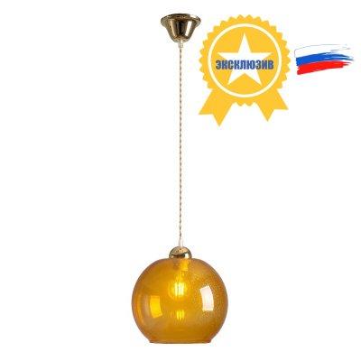 Люстра Стиляги 2-5530-1-FG E27 МаксисветОжидается<br>Серия модерновых светильников СТИЛЯГИ<br>Неоновые цветные плафоны и не менее яркие разноцветные шнуры.<br>Особая гордость - российская комплектация светильников!<br>Стилевые решения интерьера: контемпорари, хай-тек<br>Тип помещения: столовая, кухня, прихожая, холл<br><br>S освещ. до, м2: 3<br>Тип цоколя: E27<br>Цвет арматуры: Золото<br>Количество ламп: 1<br>Ширина, мм: 245<br>Высота полная, мм: 1050<br>Длина, мм: 245<br>Оттенок (цвет): Оранжевый