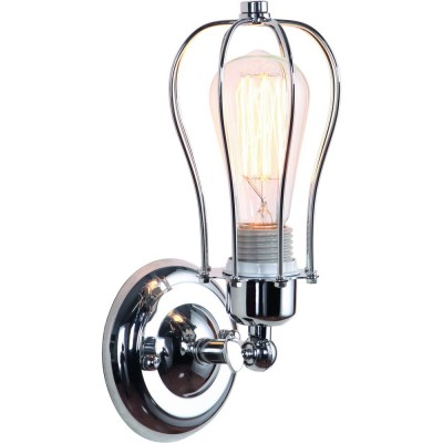 Светильник Divinare 2001/02 AP-1Лофт<br><br><br>Тип цоколя: E27<br>Цвет арматуры: серебристый хром<br>Количество ламп: 1<br>Ширина, мм: 110<br>Диаметр, мм мм: 140<br>Высота, мм: 280<br>MAX мощность ламп, Вт: 40