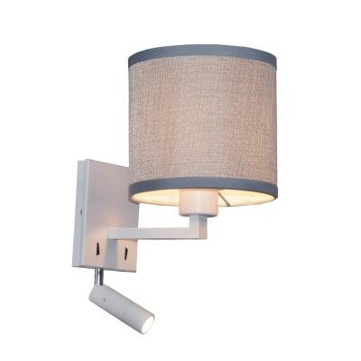 Настенный светильник Favourite 2002-2W Essentiaсовременные бра модерн<br><br><br>Тип лампы: Накаливания / энергосбережения / светодиодная<br>Тип цоколя: E27/LED<br>Цвет арматуры: белый<br>Количество ламп: 2<br>Ширина, мм: 160<br>Диаметр, мм мм: 220<br>Размеры: D220*W160*H300<br>Высота, мм: 300<br>Поверхность арматуры: матовая<br>Оттенок (цвет): белый<br>MAX мощность ламп, Вт: 40/3