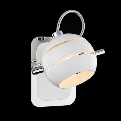 Светильник Евросвет 20023/1 хром/белыйОдиночные<br><br><br>Тип товара: Светильник настенный бра<br>Тип лампы: галогенная/LED<br>Тип цоколя: G9<br>Количество ламп: 1<br>Ширина, мм: 100<br>MAX мощность ламп, Вт: 40<br>Длина, мм: 140<br>Высота, мм: 165<br>Цвет арматуры: серебристый