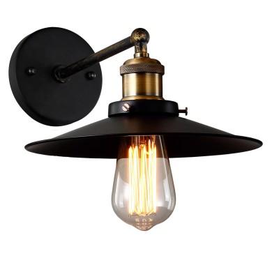Светильник настенный Divinare 2003/01 AP-1бра в морском стиле<br><br><br>Тип лампы: Накаливания / энергосбережения / светодиодная<br>Тип цоколя: E27<br>Цвет арматуры: черный<br>Количество ламп: 1<br>Диаметр, мм мм: 230<br>Длина, мм: 320<br>Высота, мм: 260<br>MAX мощность ламп, Вт: 40
