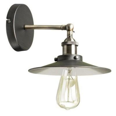 Светильник бра Divinare 2003/05 AP-1Лофт<br><br><br>Тип цоколя: E27<br>Ширина, мм: 220<br>Выступ, мм: 240<br>Высота, мм: 260<br>Оттенок (цвет): черный<br>MAX мощность ламп, Вт: 60