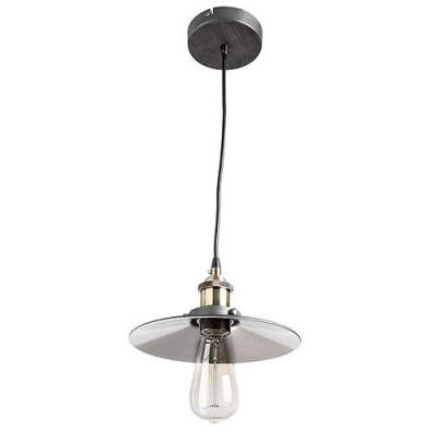 Светильник подвесной Divinare 2003/05 SP-1одиночные подвесные светильники<br><br><br>Тип цоколя: E27<br>Цвет арматуры: серебристый хром<br>Диаметр, мм мм: 360<br>Высота полная, мм: 1200<br>Высота, мм: 150