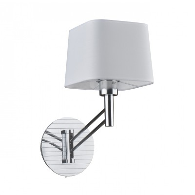 Настенный светильник Favourite 2003-1W Tantumсовременные бра модерн<br><br><br>Тип лампы: Накаливания / энергосбережения / светодиодная<br>Тип цоколя: E27<br>Цвет арматуры: серебристый<br>Количество ламп: 1<br>Ширина, мм: 180<br>Диаметр, мм мм: 375<br>Размеры: D375*W180*H370<br>Высота, мм: 370<br>Поверхность арматуры: глянцевая<br>Оттенок (цвет): серебристый<br>MAX мощность ламп, Вт: 40