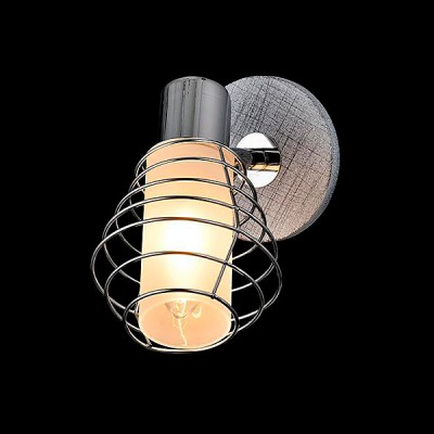 Светильник Евросвет 20039/1 хром/серыйМорской стиль<br><br><br>Тип лампы: Накаливания / энергосбережения / светодиодная<br>Тип цоколя: E14<br>Количество ламп: 1<br>Ширина, мм: 180<br>MAX мощность ламп, Вт: 40<br>Длина, мм: 90<br>Высота, мм: 170<br>Цвет арматуры: серебристый
