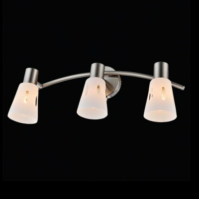 Светильник Евросвет 20041/3 сатин-никельТройные<br><br><br>Тип лампы: Накаливания / энергосбережения / светодиодная<br>Тип цоколя: E14<br>Количество ламп: 3<br>Ширина, мм: 170<br>MAX мощность ламп, Вт: 40<br>Длина, мм: 450<br>Высота, мм: 170