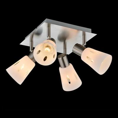 Светильник Евросвет 20041/4 сатин-никельС 4 лампами<br>Светильники-споты – это оригинальные изделия с современным дизайном. Они позволяют не ограничивать свою фантазию при выборе освещения для интерьера. Такие модели обеспечивают достаточно качественный свет. Благодаря компактным размерам Вы можете использовать несколько спотов для одного помещения.  Интернет-магазин «Светодом» предлагает необычный светильник-спот Евросвет 20041/4 по привлекательной цене. Эта модель станет отличным дополнением к люстре, выполненной в том же стиле. Перед оформлением заказа изучите характеристики изделия.  Купить светильник-спот Евросвет 20041/4 в нашем онлайн-магазине Вы можете либо с помощью формы на сайте, либо по указанным выше телефонам. Обратите внимание, что у нас склады не только в Москве и Екатеринбурге, но и других городах России.<br><br>S освещ. до, м2: 8<br>Тип лампы: Накаливания / энергосбережения / светодиодная<br>Тип цоколя: E14<br>Количество ламп: 4<br>Ширина, мм: 340<br>Длина, мм: 340<br>Высота, мм: 170<br>MAX мощность ламп, Вт: 40