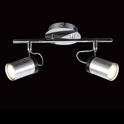 Евросвет 20044/2 хром/черныйДвойные<br><br><br>Тип лампы: галогенная/LED<br>Тип цоколя: G5.3<br>Количество ламп: 2<br>Ширина, мм: 270<br>MAX мощность ламп, Вт: 50<br>Длина, мм: 70<br>Высота, мм: 130