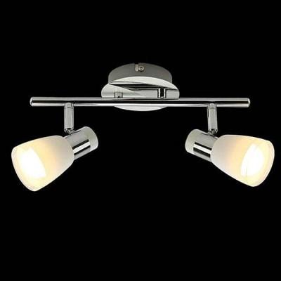 Евросвет 20048/2 белый/хромДвойные<br><br><br>Тип лампы: Накаливания / энергосбережения / светодиодная<br>Тип цоколя: E14<br>Количество ламп: 2<br>Ширина, мм: 70<br>MAX мощность ламп, Вт: 40<br>Длина, мм: 276<br>Высота, мм: 133