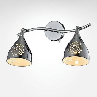 Евросвет 20049/2 хромДвойные<br><br><br>S освещ. до, м2: 4<br>Тип лампы: Накаливания / энергосбережения / светодиодная<br>Тип цоколя: E14<br>Количество ламп: 2<br>Ширина, мм: 210<br>Длина, мм: 345<br>Высота, мм: 210<br>MAX мощность ламп, Вт: 40
