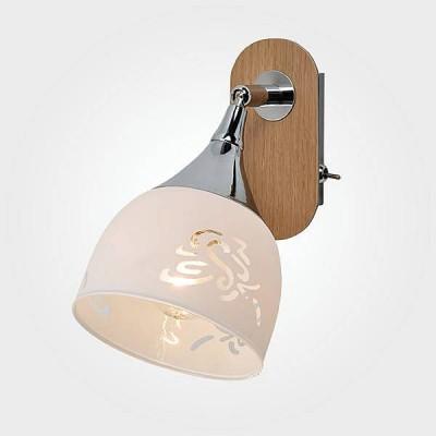 Евросвет 20051/1 светлое деревоОдиночные<br><br><br>Тип лампы: Накаливания / энергосбережения / светодиодная<br>Тип цоколя: E14<br>Количество ламп: 1<br>Ширина, мм: 110<br>MAX мощность ламп, Вт: 40<br>Расстояние от стены, мм: 190<br>Высота, мм: 200