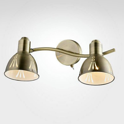 Евросвет 20052/2 античная бронзаДвойные<br><br><br>Тип лампы: Накаливания / энергосбережения / светодиодная<br>Тип цоколя: E14<br>Количество ламп: 2<br>Ширина, мм: 200<br>MAX мощность ламп, Вт: 40<br>Длина, мм: 350<br>Высота, мм: 150