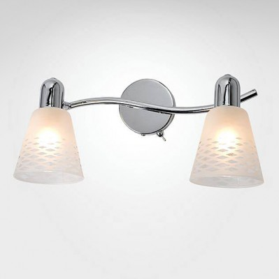 Евросвет 20053/2 хромДвойные<br><br><br>S освещ. до, м2: 4<br>Тип лампы: Накаливания / энергосбережения / светодиодная<br>Тип цоколя: E14<br>Количество ламп: 2<br>Ширина, мм: 210<br>Длина, мм: 350<br>Высота, мм: 170<br>MAX мощность ламп, Вт: 40
