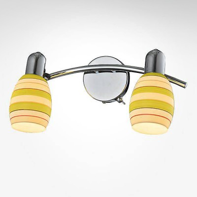Евросвет 20055/2 хромДвойные<br><br><br>Тип лампы: Накаливания / энергосбережения / светодиодная<br>Тип цоколя: E14<br>Количество ламп: 2<br>Ширина, мм: 190<br>MAX мощность ламп, Вт: 40<br>Длина, мм: 315<br>Высота, мм: 150