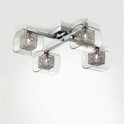Люстра Odeon Light 2006/4C Forta хромПотолочные<br>Потолочная люстра Odeon light 2006/4С создана в стильном концепте модерн, что подтверждает выверенная геометрия каждой детали. Четыре плафона представленного итальянского изделия исполнены в интересной манере сочетания различных фигур: строгий внутренний квадрат с начинённой галогенной лампой обрамлён в более мягкую стеклянную форму, которая, в свою очередь, крепится к прямоугольному основанию. Каждая деталь гармонично вливается в другую и насыщается блеском от обоюдного отражения. Потолочная люстра Odeon light 2006/4С в такой вариации символизирует особую оригинальность и лаконичный подход к индивидуальному дизайну. Наполните свой интерьер шедевром в стиле модерн!<br><br>Установка на натяжной потолок: Ограничено<br>S освещ. до, м2: 10<br>Крепление: Планка<br>Тип лампы: галогенная / LED-светодиодная<br>Тип цоколя: G9<br>Количество ламп: 4<br>Ширина, мм: 580<br>MAX мощность ламп, Вт: 40<br>Длина, мм: 580<br>Высота, мм: 180<br>Цвет арматуры: серебристый