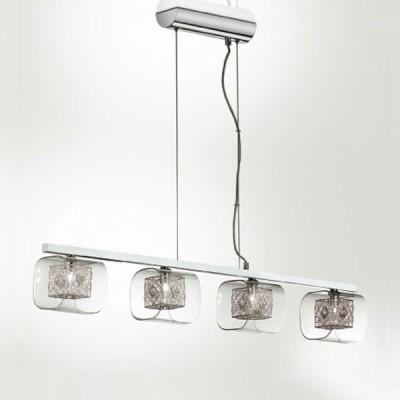 Люстра Odeon Light 2006/4 Forta хромПодвесные<br>Подвесной светильник Odeon light 2006/4 создан в безупречном концепте модерн, что подтверждает выверенная геометрия и пропорциональность всех деталей. Четыре плафона представленного итальянского изделия исполнены в интересной манере сочетания различных фигур: строгий внутренний квадрат с начинённой галогенной лампой обрамлён в более мягкую стеклянную форму, которая, в свою очередь, крепится к прямоугольному основанию. Каждая деталь гармонично вливается в другую и насыщается блеском от обоюдного отражения. Подвесной светильник Odeon light 2006/4 в такой вариации символизирует оригинальность и лаконичный подход к индивидуальному дизайну. Наполните интерьер шедевром в стиле модерн!<br><br>Установка на натяжной потолок: Да<br>S освещ. до, м2: 10<br>Крепление: Планка<br>Тип товара: Люстра подвесная<br>Тип лампы: галогенная / LED-светодиодная<br>Тип цоколя: G9<br>Количество ламп: 4<br>Ширина, мм: 150<br>MAX мощность ламп, Вт: 40<br>Длина, мм: 980<br>Высота, мм: 200-2000<br>Цвет арматуры: серебристый