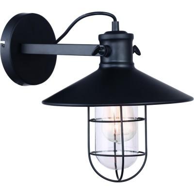 Светильник Divinare 2007/01 AP-1бра в стиле лофт<br><br><br>Тип цоколя: E27<br>Цвет арматуры: черный<br>Количество ламп: 1<br>Ширина, мм: 270<br>Диаметр, мм мм: 360<br>Высота, мм: 300<br>MAX мощность ламп, Вт: 40