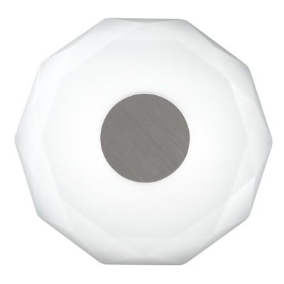 Светильник светодиодный Сонекс 2013/D PIOLA 48ВтКруглые<br><br><br>S освещ. до, м2: 24<br>Цветовая t, К: 4000<br>Тип лампы: LED - светодиодная<br>Тип цоколя: LED<br>Цвет арматуры: серебристый никель<br>Диаметр, мм мм: 440<br>Высота полная, мм: 68<br>Оттенок (цвет): белый<br>MAX мощность ламп, Вт: 48
