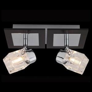 Светильник Евросвет 20140/2 хромДвойные<br>Светильники-споты – это оригинальные изделия с современным дизайном. Они позволяют не ограничивать свою фантазию при выборе освещения для интерьера. Такие модели обеспечивают достаточно качественный свет. Благодаря компактным размерам Вы можете использовать несколько спотов для одного помещения.  Интернет-магазин «Светодом» предлагает необычный светильник-спот Евросвет 20140/2 по привлекательной цене. Эта модель станет отличным дополнением к люстре, выполненной в том же стиле. Перед оформлением заказа изучите характеристики изделия.  Купить светильник-спот Евросвет 20140/2 в нашем онлайн-магазине Вы можете либо с помощью формы на сайте, либо по указанным выше телефонам. Обратите внимание, что у нас склады не только в Москве и Екатеринбурге, но и других городах России.<br><br>S освещ. до, м2: 5<br>Тип лампы: галогенная / LED-светодиодная<br>Тип цоколя: G9<br>Количество ламп: 2<br>MAX мощность ламп, Вт: 40<br>Длина, мм: 240<br>Высота, мм: 130<br>Цвет арматуры: серебристый