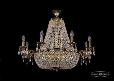 Люстра Bohemia Ivele 2022/85-60/GBПодвесные<br><br><br>S освещ. до, м2: 32<br>Тип товара: Люстра<br>Тип лампы: накаливания / энергосбережения / LED-светодиодная<br>Тип цоколя: E14<br>Количество ламп: 16<br>MAX мощность ламп, Вт: 40<br>Диаметр, мм мм: 850<br>Высота, мм: 600<br>Цвет арматуры: Золото черненное