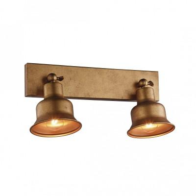 Настенный светильник Favourite 2024-2W Clochetteдвойные светильники споты<br><br><br>Тип лампы: Накаливания / энергосбережения / светодиодная<br>Тип цоколя: E27<br>Цвет арматуры: золото<br>Количество ламп: 2<br>Ширина, мм: 350<br>Диаметр, мм мм: 180<br>Размеры: D180*W350*H180<br>Высота, мм: 180<br>Поверхность арматуры: матовая<br>Оттенок (цвет): золотой<br>MAX мощность ламп, Вт: 60<br>Общая мощность, Вт: 120