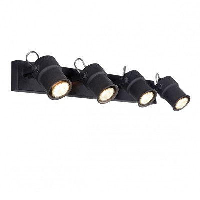 Настенный светильник Favourite 2026-4W Arcuспоты 4 лампы<br><br><br>Тип лампы: галогенная/LED - светодиодная<br>Тип цоколя: GU10<br>Цвет арматуры: черный<br>Количество ламп: 4<br>Ширина, мм: 625<br>Диаметр, мм мм: 165<br>Размеры: D165*W625*H125<br>Высота, мм: 125<br>Поверхность арматуры: матовая<br>Оттенок (цвет): черный<br>MAX мощность ламп, Вт: 5