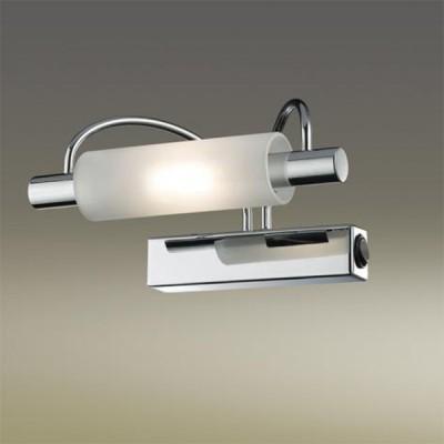 Светильник Odeon Light 2034/1W Wiron хромсветильники для картин<br><br><br>S освещ. до, м2: 6<br>Тип лампы: галогенная / LED-светодиодная<br>Тип цоколя: R7s<br>Цвет арматуры: серебристый<br>Количество ламп: 1<br>Ширина, мм: 185<br>Высота, мм: 100<br>MAX мощность ламп, Вт: 100