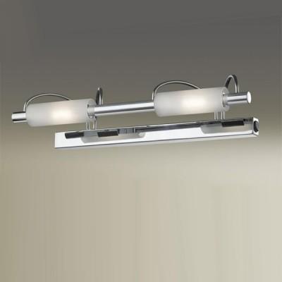Светильник Odeon Light 2034/2W Wiron хромДля картин/зеркал<br><br><br>S освещ. до, м2: 13<br>Тип товара: Светильник настенный бра<br>Тип лампы: галогенная / LED-светодиодная<br>Тип цоколя: R7s<br>Количество ламп: 2<br>Ширина, мм: 420<br>MAX мощность ламп, Вт: 100<br>Высота, мм: 100<br>Цвет арматуры: серебристый