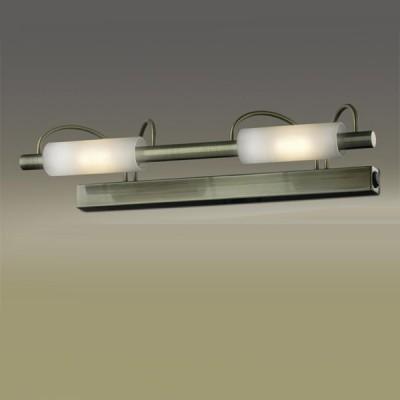Светильник Odeon Light 2035/2W Wiron бронзаДля картин/зеркал<br><br><br>S освещ. до, м2: 13<br>Тип товара: Светильник настенный бра<br>Тип лампы: галогенная / LED-светодиодная<br>Тип цоколя: R7s<br>Количество ламп: 2<br>Ширина, мм: 420<br>MAX мощность ламп, Вт: 100<br>Высота, мм: 100<br>Цвет арматуры: бронзовый