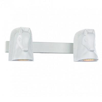 Настенный светильник Favourite 2040-2W Cavallinaсовременные бра модерн<br><br><br>Тип лампы: галогенная/LED - светодиодная<br>Тип цоколя: GU10<br>Цвет арматуры: белый<br>Количество ламп: 2<br>Ширина, мм: 330<br>Диаметр, мм мм: 150<br>Размеры: D150*W330*H110<br>Высота, мм: 110<br>Поверхность арматуры: матовая<br>Оттенок (цвет): белый<br>MAX мощность ламп, Вт: 5