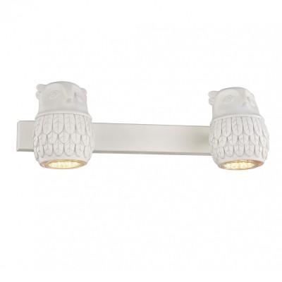 Настенный светильник Favourite 2041-2W Gufoсовременные бра модерн<br><br><br>Тип лампы: галогенная/LED - светодиодная<br>Тип цоколя: GU10<br>Цвет арматуры: белый<br>Количество ламп: 2<br>Ширина, мм: 330<br>Диаметр, мм мм: 140<br>Размеры: D140*W330*H110<br>Высота, мм: 110<br>Поверхность арматуры: матовая<br>Оттенок (цвет): белый<br>MAX мощность ламп, Вт: 5<br>Общая мощность, Вт: 10