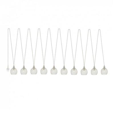 Гирлянда Favourite 2043-10P Luminasдлинные подвесные светильники<br><br><br>Тип лампы: Накаливания / энергосбережения / светодиодная<br>Тип цоколя: E14<br>Цвет арматуры: белый<br>Количество ламп: 10<br>Диаметр, мм мм: 100<br>Размеры: D100*9x600*L3000<br>Длина, мм: 3000<br>Высота, мм: 600<br>Поверхность арматуры: матовая<br>Оттенок (цвет): белый<br>MAX мощность ламп, Вт: 40